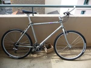 Nouveau vélo de ville issu d'un vtt