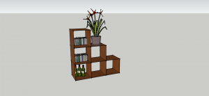 meuble étagère en escalier en bois diy
